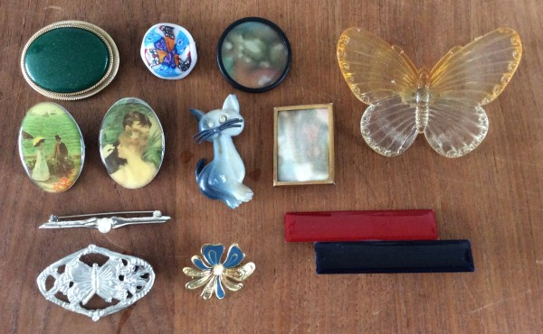 thrifted vintage brooches