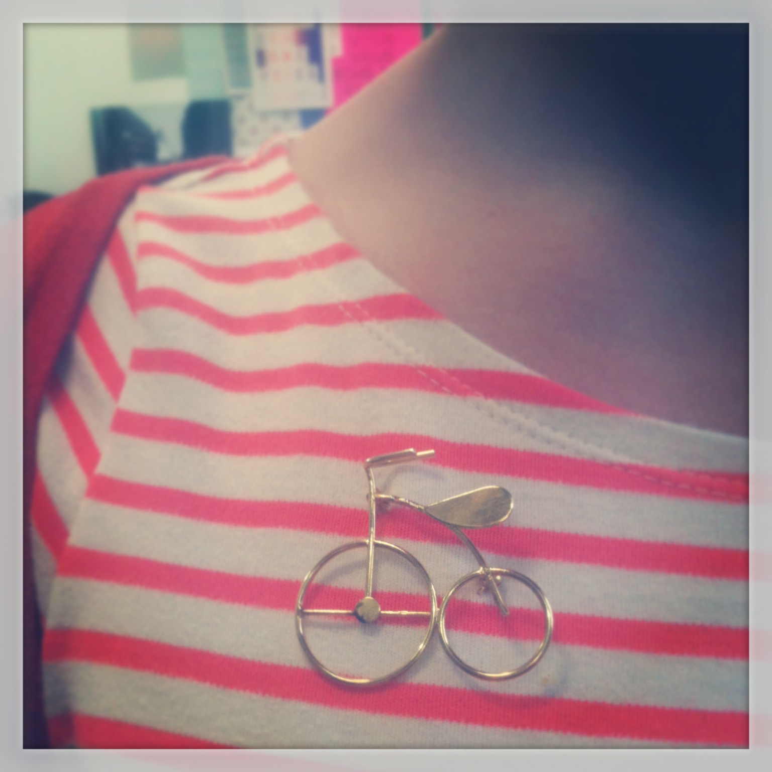 Vintage Gold Bicycle Brooch