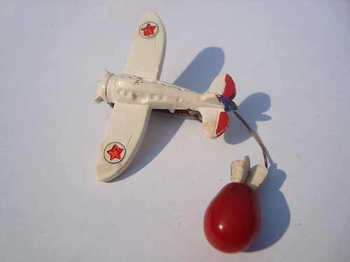 airplane bomb brooch