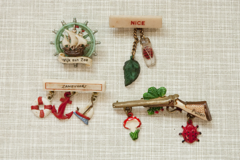 Vintage tourist brooches