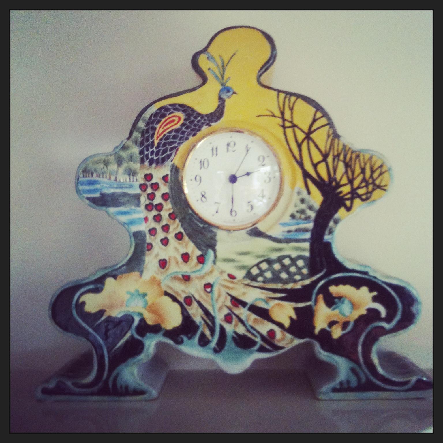 clock-peacock