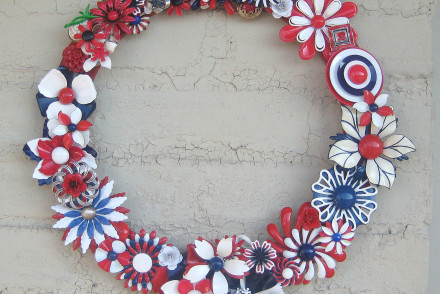 DIY brooch wreath