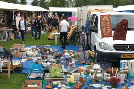 Flea market car boot sale