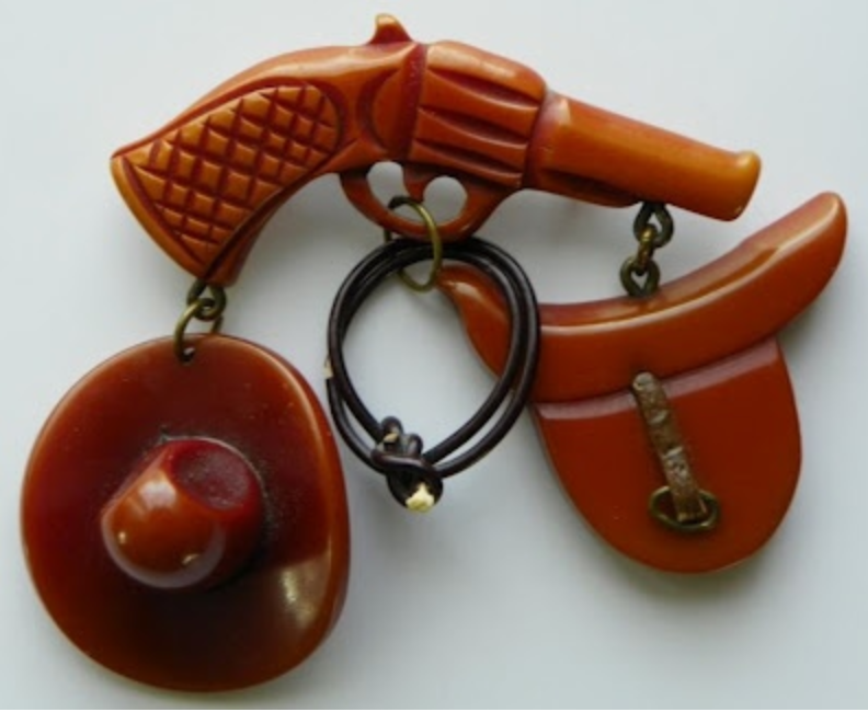 pistol-bakelite-brooch